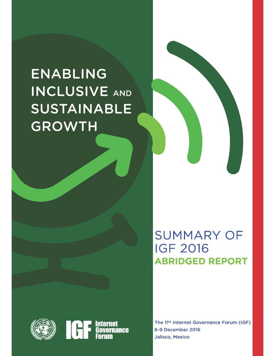 IGF 2016 Abridged Report Cover