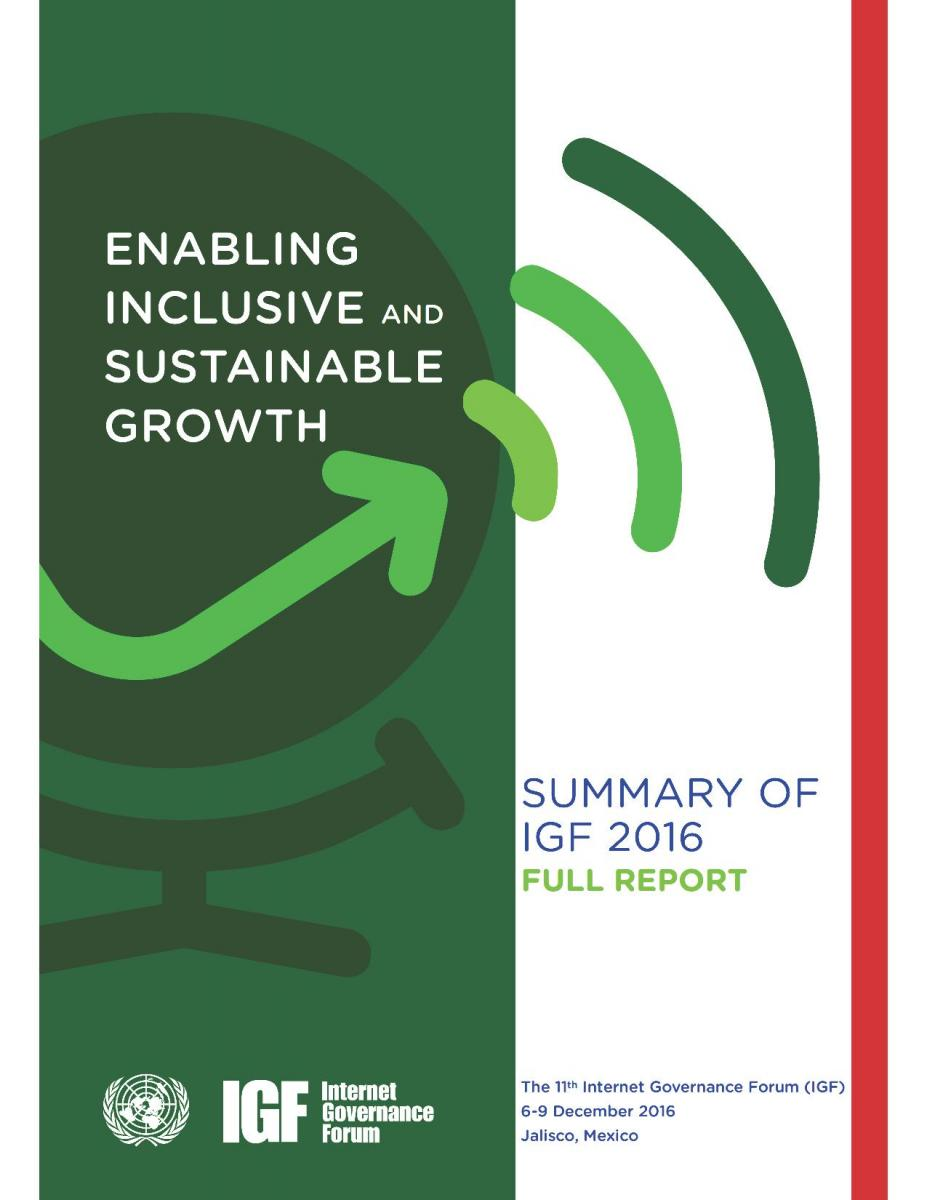 IGF 2016 Full Report Cover